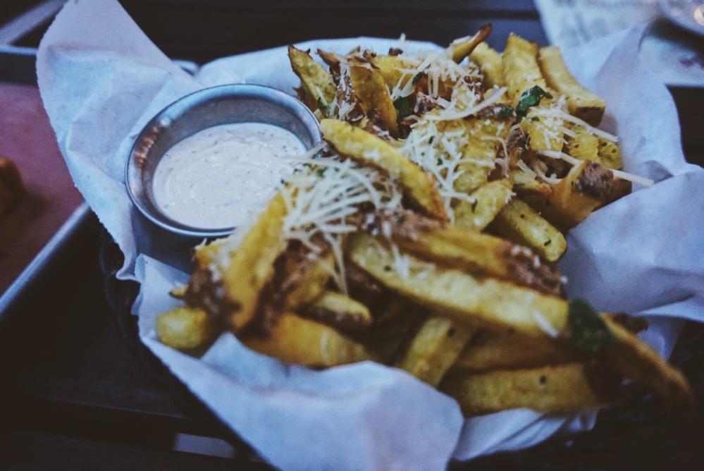 Garic Parm Herb Fries